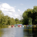 Boats On Markeaton Lake by Rod Johnson