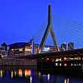 Boston Garden And Zakim Bridge by Rick Berk