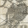 Boston Map Of 1842 by George Pedro