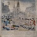 Boston Massacre.  British Troops Shoot by Everett