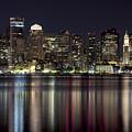 Boston Skyline At Night by Jenna Szerlag