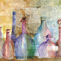 Bottle Collage by Arline Wagner