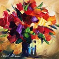 Bouquet For Sweeheart by Leonid Afremov