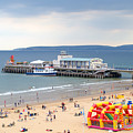 Bournemouth Pier And Beach by Chris Day