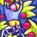 Boy Picking Apples by Angelina Marino