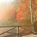 Bridge At Chocorua Lake by John Burk