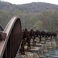 Bridge At Ohiopyle Pennsylvania by George Jones