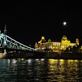 Budapest On The Danube At Night by Angela Angermaier