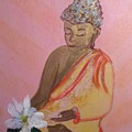 Buddha And The Lotus Blossom by Michela Akers