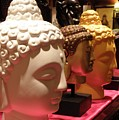 Buddha Heads by Nora Martinez