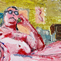 Buddha On The Phone One Of Four by John Toxey