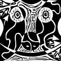 Bull Charging Rorschach by Yonatan Frimer Maze Artist