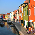 Burano Italy by T Guy Spencer