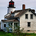 Burnt Island Lighthouse Side View by Nancie DeMellia