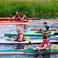 Burton Canoe Race At The Start by Rod Johnson