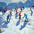 Busy Ski Slope by Andrew Macara