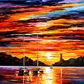 By The Entrance To The Harbor by Leonid Afremov