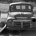 Bygone Dodge In Black And White by Suzanne Gaff