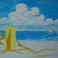 Cabana On The Beach by Nancy Nuce