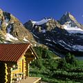 Cabin At Mt Assiniboine Lodge, Mt by David Nunuk