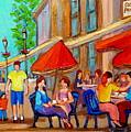 Cafe Casa Grecque Prince Arthur by Carole Spandau