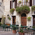 Cafe Seating In The Piazza Di Spagna by Jeremy Woodhouse