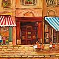 Cafe Vieux Montreal by Carole Spandau