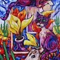 Calla Cacti Cat Izona by Dianne  Connolly