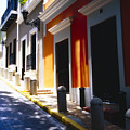 Calle Del Sol Old San Juan Puerto Rico by George Oze