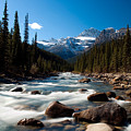 Canadian Rockies - River Near Jasper by Richard Steinberger