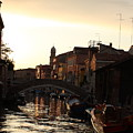 Canal In Venice At Sunset by Michael Henderson