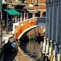 Canal Next To Church Of The Miracoli In Venice by Michael Henderson