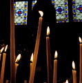 Candles Burning Inside The Basilica Of The Saint Sauveur by Sami Sarkis