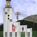 Cape Hinchinbrook Lighthouse In Alaska by Anne Norskog