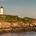 Cape Neddick Lighthouse Island In Evening Light - Panorama by At Lands End Photography