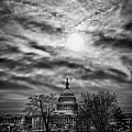 Capitol Building From The Steps Of Supreme Court Building by Val Black Russian Tourchin