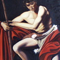 Caravaggio's John The Baptist Study by Toni Berry