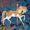 Carousel Horse With Dark Background by Brenda Adams