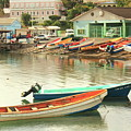 Castries Harbor Waterfront by Roupen  Baker