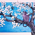 Cat Among The Cherry Blossoms by Sarah Swift