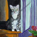 Cat In Window by Mary Jo Zorad