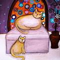 Cats Waiting by Pristine Cartera Turkus