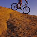 Caucasian Male Mountain Biking by Bobby Model