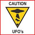 Caution Ufos by Pixel Chimp