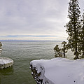 Cave Point Panorama by Richard Steinberger
