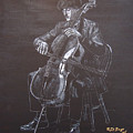 Cello Player by Richard Le Page