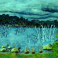Central Highland's Lake. by Bethwyn Mills