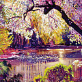 Central Park Spring Pond by David Lloyd Glover