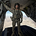 Ch-47 Chinook Crew Chief Stands by Terry Moore