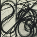 Charcoal Arc Drawing 7 by Ruth Sharton